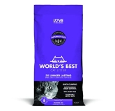World's Best Cl Lavender 14lb World's Best Cat Litter Cat Lavender Scented Multiple Cat Clumping Formula 14 Pound Bag