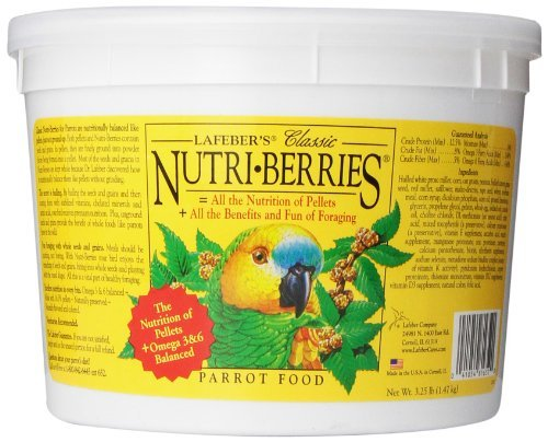 Lafeber Parrot Berry 3lb Lafeber Company Nutri Berries Parrot Pet Food 3.25 Pound
