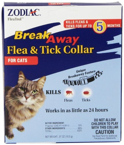 Zod Collar Cat Brkway 5 Mo. Zodiac Breakaway Flea & Tick Collar For Cats *zod Collar Cat Brkway 5 Mo.