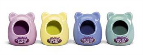 Spet Bath House Critter Sm Kaytee Ceramic Critter Bath Small Colors Vary