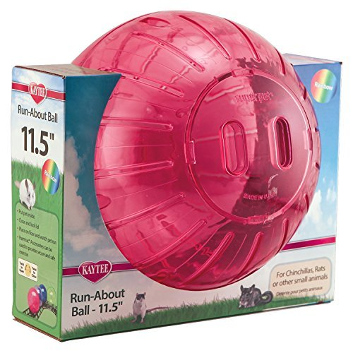 Spet Ball Runabout Rnbw 11.5in Kaytee Run About Giant 11.5 Inch Exercise Ball Rainbow Colors Vary
