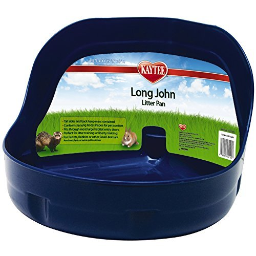 Spet Litter Pan High Sided Lg Kaytee Long John Litter Pan (colors May Vary)