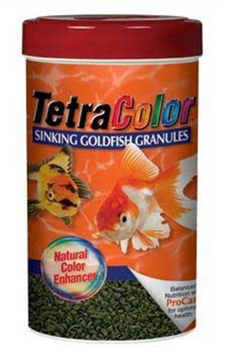 Tetra Color Granles Sink 3.52z Tetra 16441 Tetracolor Goldfish Granules 3.52 Ounce 250 Ml