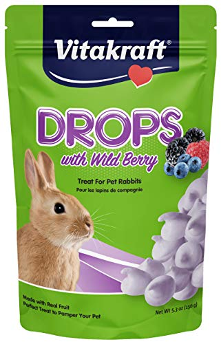 Vita Drops Rabbit Wldbrry 5.3z Vitakraft Rabbit Wild Berry Drops And 5.3 Ounce Pouch