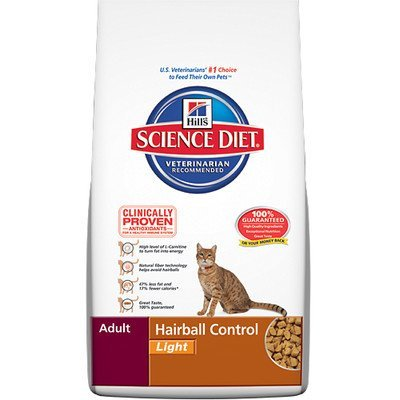 Hills Feline Hairball Control Light Cat 7lb
