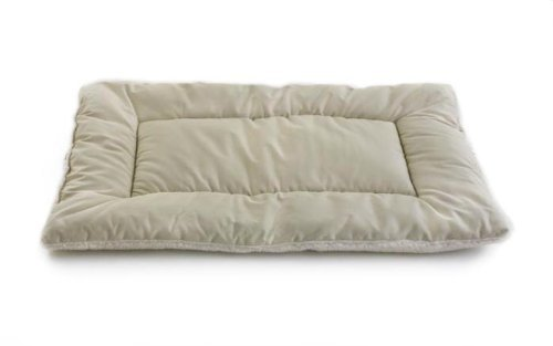 Pdi Sleepezz Clssc Khaki Xs Pet Dreams Classic Sleep Eez Dog Bed Reversible 19 By 13 Inch Pet Bed X Small Khaki