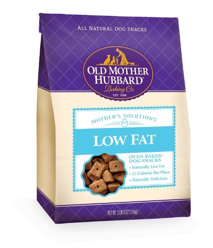 Omh Biscuit Low Fat 3.8lb Old Mother Hubbard Mother's Solutions Snacks For Dogs Low Fat Recipe 3 Pound And 5 Ounce Bag
