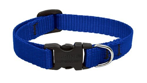 "Lup 1 2"""" Adj Clr 6 9"""" Blue Lupine 1 2 Inch Blue 6 9 Inch Adjustable Dog Collar For Small Dogs"