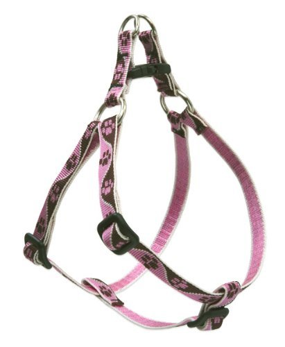 "Lup Harn Stepin 12 17x1 2"""" Tic Lupine 1 2"" Tickled Pink 12 18 Step In Dog Harness"