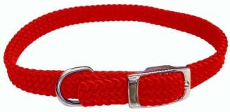 "Ham Cllr Flat Brd 5 8""""x16"""" Red Hamilton Poppies Series Flat Braid Nylon Collar 5 8 By 16 Inch Red"