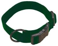 "Ham Cllr Adj 1""""x18 26"""" Lg Dgrn Hamilton 1 Inch Adjustable Dog Collar Large Fits 18 Inch By 26 Inch Dark Green"