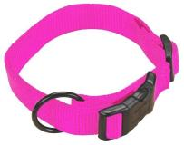 "Ham Cllr Adj 3 4""""x16 22"""" Md Hp Hamilton 3 4"" Adjustable Dog Collar Adjusts From 16 22 Inches Hot Pink"