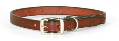 "Ham Cllr Crsd Lth 1 2""""x16"""" Bur Hamilton 1 2"" X 16"" Creased Burgundy Leather Dog Collar"