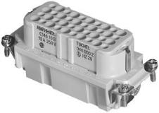 "Ham 1"""" D T Saferite Dog Collar Amphenol Tuchel C146 10b040 500 2 Rectangular Insert Receptacle 40+gnd Crimp"