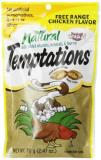 Temptations Natural Chick 3oz All Natural Temptations Free Range Chicken Flavor Treats For Cats 2.47 Ounce Pouches