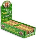 "Nat Animals Dog Bone Ches 4"""" Nature's Animals All Natural Dog Biscuit Display Cheese 4 Inch"