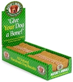 "Nat Animals Dog Bone Pnut 4"" Natural Dog Biscuits Peanut Butter 4 Inch"