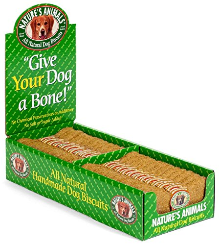 "Nat Animals Dog Bone Pnut 4"" Natural Dog Biscuits Peanut Butter 4 Inch Order By The Cs 4in 2 24ea Pk"