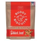 Cls Grilled Beef Soft Chew 6oz Cloud Star Soft & Chewy Buddy Biscuits Dog Treats Grilled Beef 6 Ounce Pouches