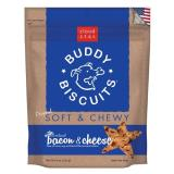 Cls Bacon Cheese Soft Chew 6oz Cloud Star Soft & Chewy Buddy Biscuits Dog Treats Bacon And Cheese Flavor 6 Ounce Pouches