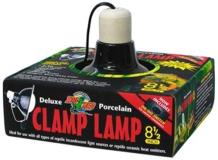 Zoo Clamp Lamp Porcelain 8.5in Zoo Med Deluxe Porcelain Clamp Lamp With 8.5 Inch Dome Black