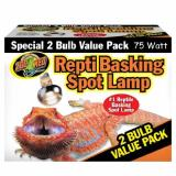 Zoo Basking Spot Lamp 75w 2pk Zoo Med Reptile Basking Spot Lamp 75 Watts 2 Bulb Value Pack