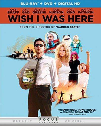 Wish I Was Here Braff King Gagnon Blu Ray DVD Dc R