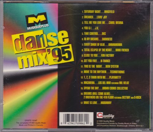 Various Whigfield Livin' Joy Carol Medina J.K. Bks Musique Plus Danse Mix' 95