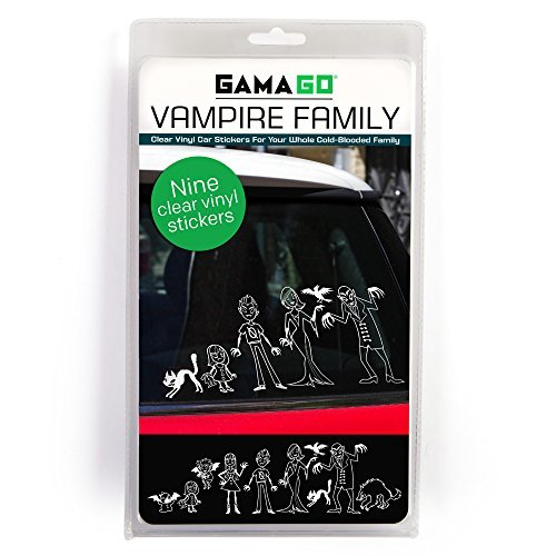 Novelty Vampire Family Car Stickers