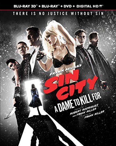 Sin City A Dame To Kill For Rourke Alba Brolin Gordon Levitt Willis Dawson Blu Ray DVD Dc R