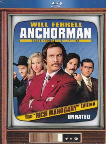 Anchorman Legend Of Ron Burgu Ferrell Applegate Rudd Willard Blu Ray Pg13 2 Br Movie Money