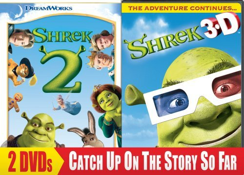 Shrek 2 Shrek 3d Party In The Shrek 2pak Ws Back To Back Nr 2 DVD