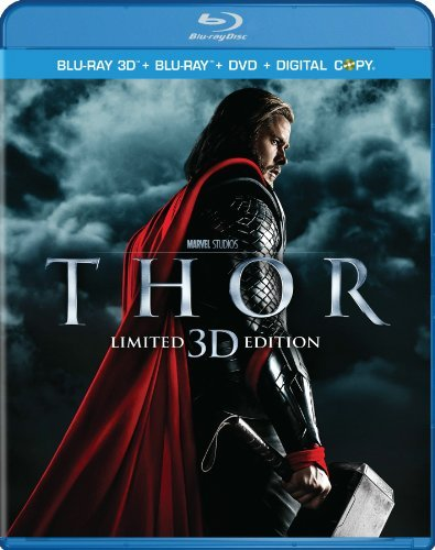 Thor 3d Portman Hopkins Hemsworth Ws Blu Ray Pg13 Incl. DVD & Digital Copy
