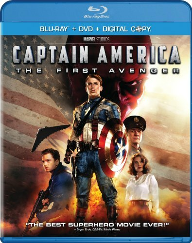 Captain America The First Avenger Evans Weaving Armitage Blu Ray Ws Pg13 Incl. DVD Dc