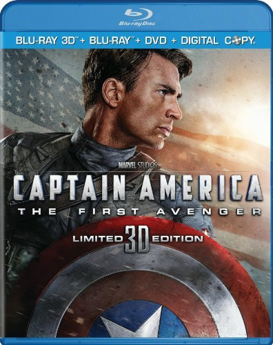 Captain America The First Ave Evans Weaving Armitage Ws Blu Ray Pg13 3 DVD Incl. DVD Digital C