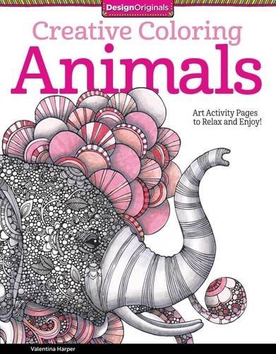 Valentina Harper Creative Coloring Animals Art Activity Pages To Relax And Enjoy!