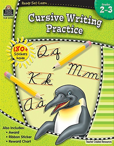 Teacher Created Resources Ready Set Learn Cursive Writing Practice Grd 2 3