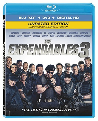 Expendables 3 Stallone Statham Banderas Blu Ray DVD Dc Pg13