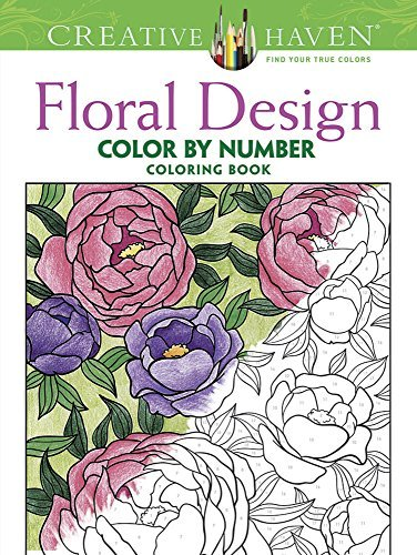 Jessica Mazurkiewicz Creative Haven Floral Design Color By Number Color First Edition