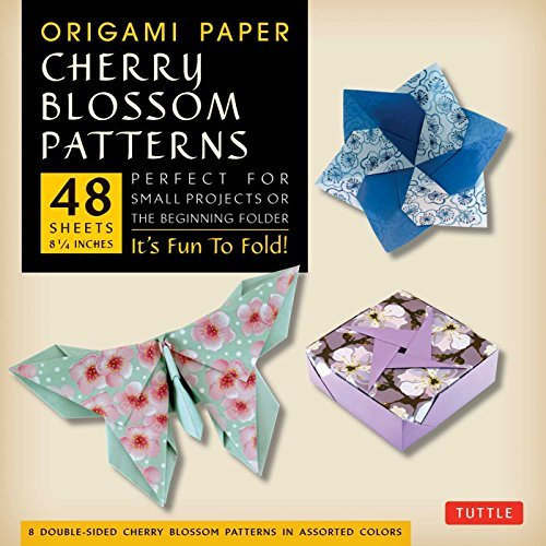 "Tuttle Publishing Origami Paper Cherry Blossom Prints Large 8 1 4"" Tuttle Origami Paper High Quality Origami Sheets Edition Origam"