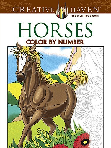 George Toufexis Horses Color By Number Coloring Book