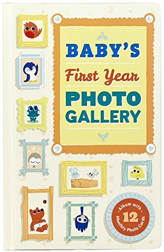 Abrams Noterie Baby's First Year Photo Gallery Album With 12 Monthly Photo Cards