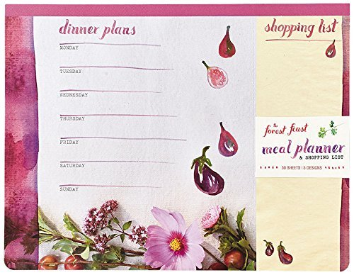 Erin Gleeson The Forest Feast Meal Planner And Shopping List Magnetic Notepad 50 Sheets 5 Designs