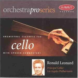 Ronald Leonard Orchestral Excerpts For Cello Leonard (vc)