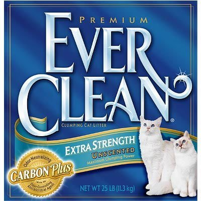 Clo Ever Clean Litter Xs 25lb Ever Clean Extra Strength Cat Litter Unscented 25 Pound Box *clo Ever Clean Litter Xs 25lb