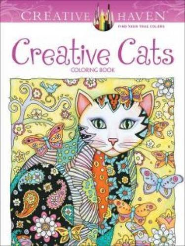 Marjorie Sarnat Creative Haven Creative Cats Coloring Book First Edition