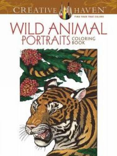 Llyn Hunter Creative Haven Wild Animal Portraits Coloring Book First Edition