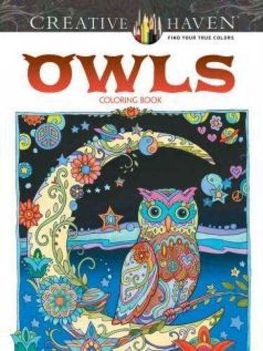 Marjorie Sarnat Creative Haven Owls Coloring Book