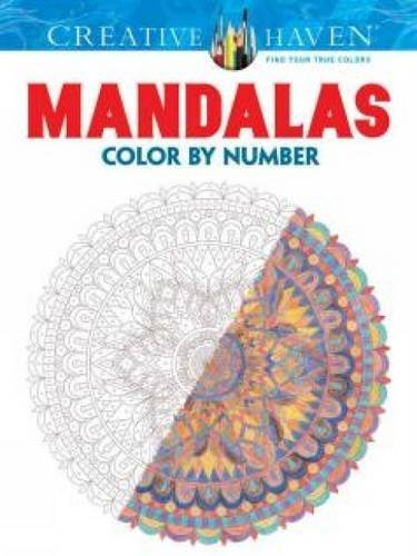 Shala Kerrigan Creative Haven Mandalas Color By Number Coloring B First Edition