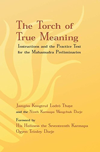 Jamgon Kongtrul Lodro Thaye Torch Of True Meaning Instructions And The Practice For The Mahamudra P